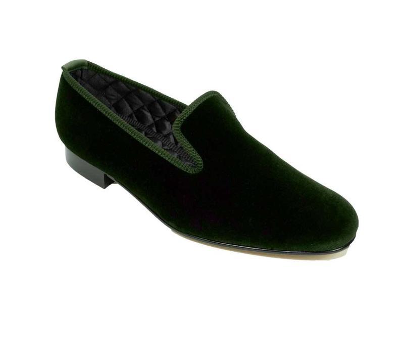 Velvet Slippers - Green
