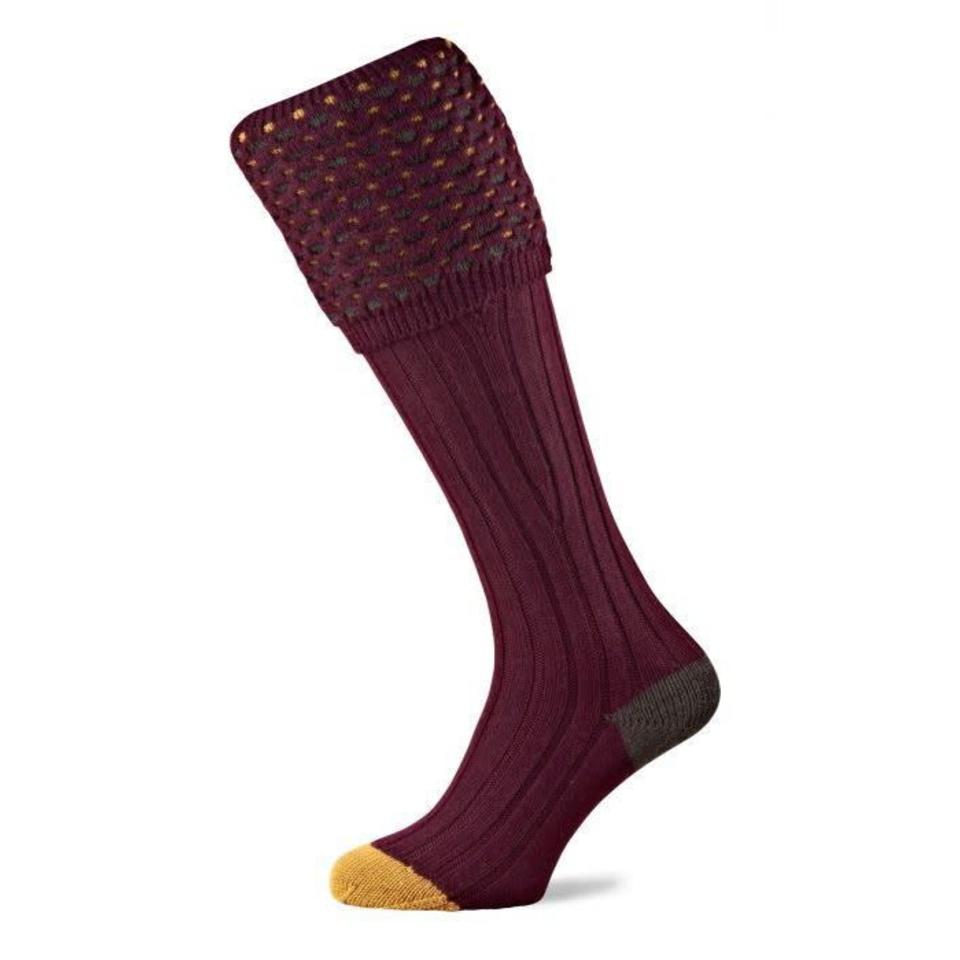 Ambassador Shooting Socks - Burgundy