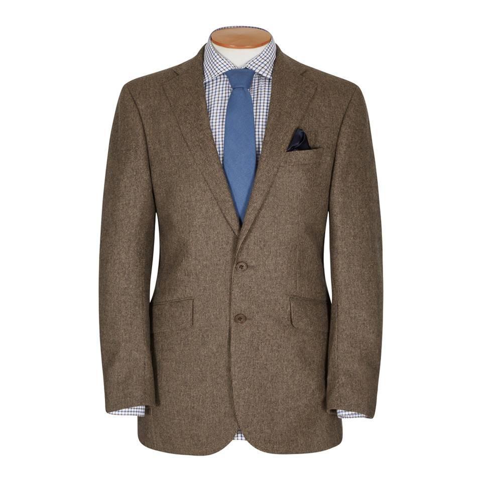 Un-Lined Micro Check Tweed Jacket