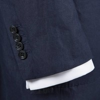 Un-lined Linen Jacket - Navy