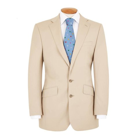 Single Breasted Cotton Jacket - Beige