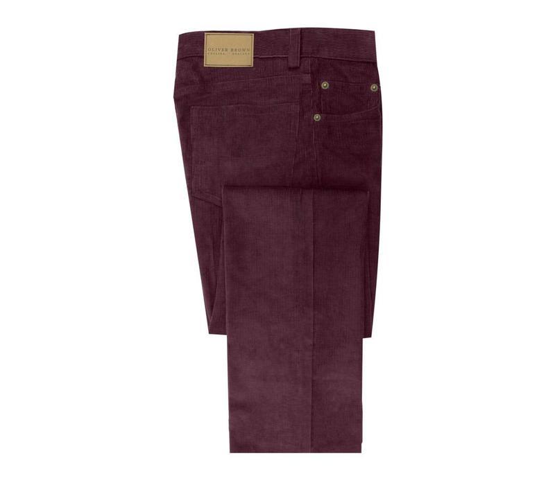 Needlecord Jeans - Burgundy