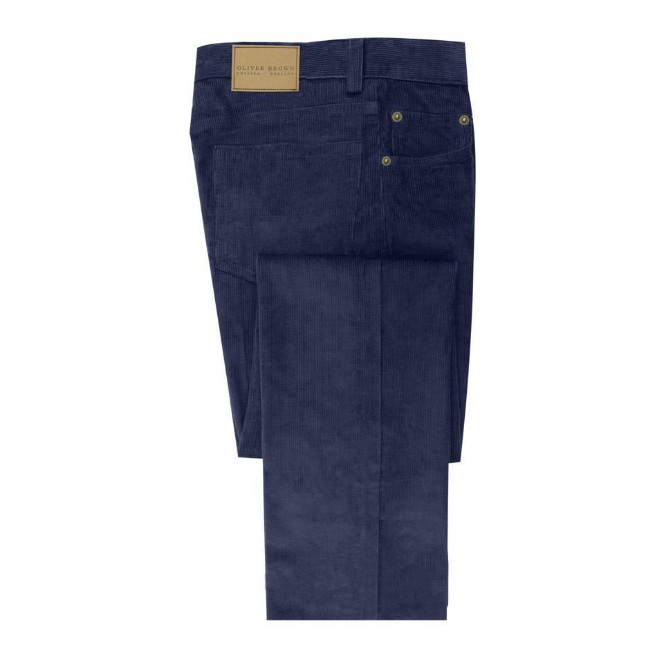 Needlecord Jeans - Navy
