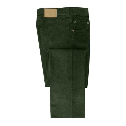 Needlecord Jeans - Olive