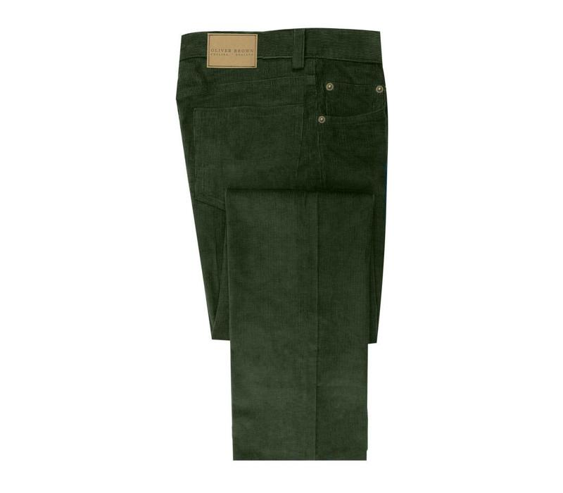 Needlecord Jeans - Olive