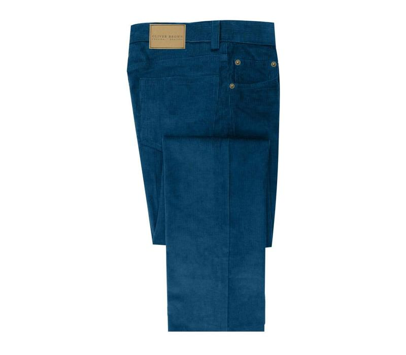 Needlecord Jeans - Petrol (Blue)