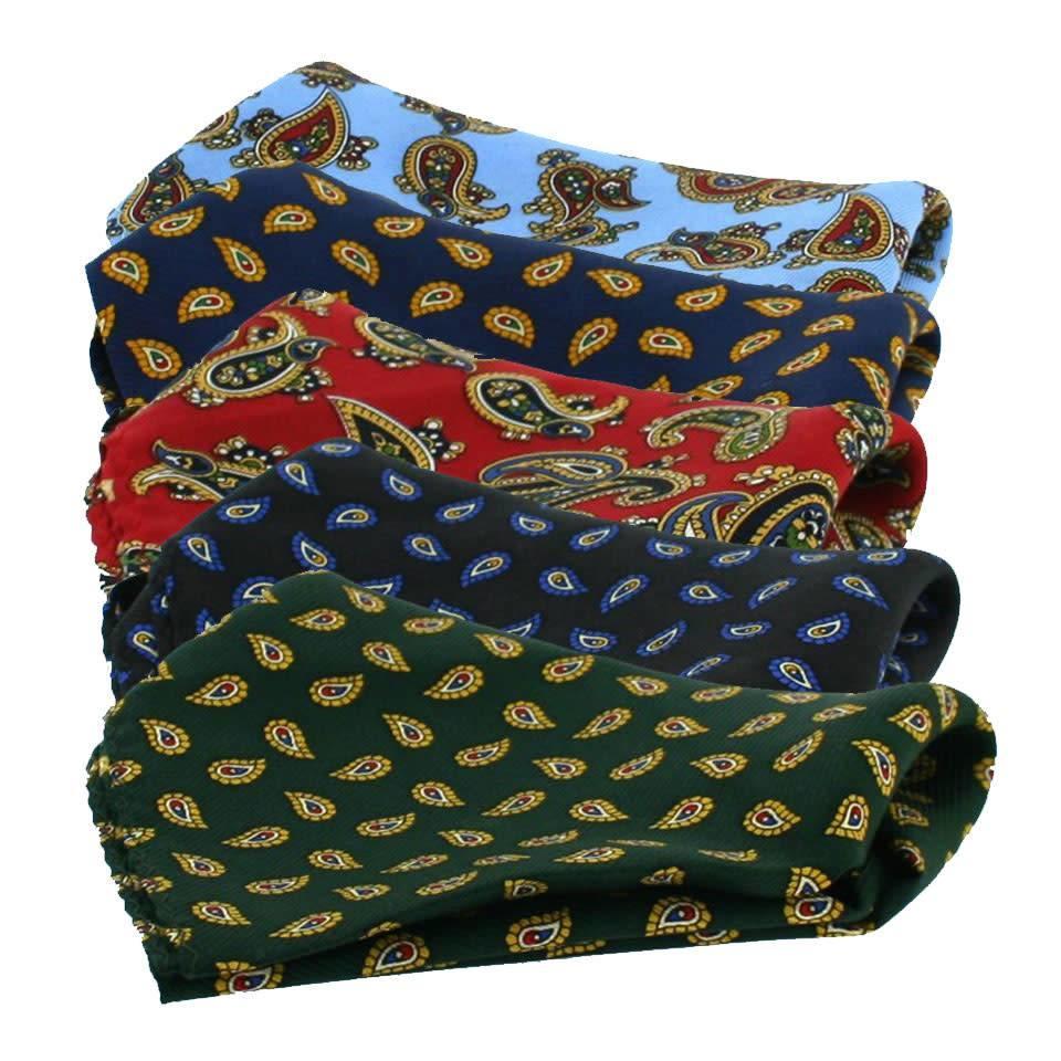 Silk Twill Handkerchiefs, Paisley