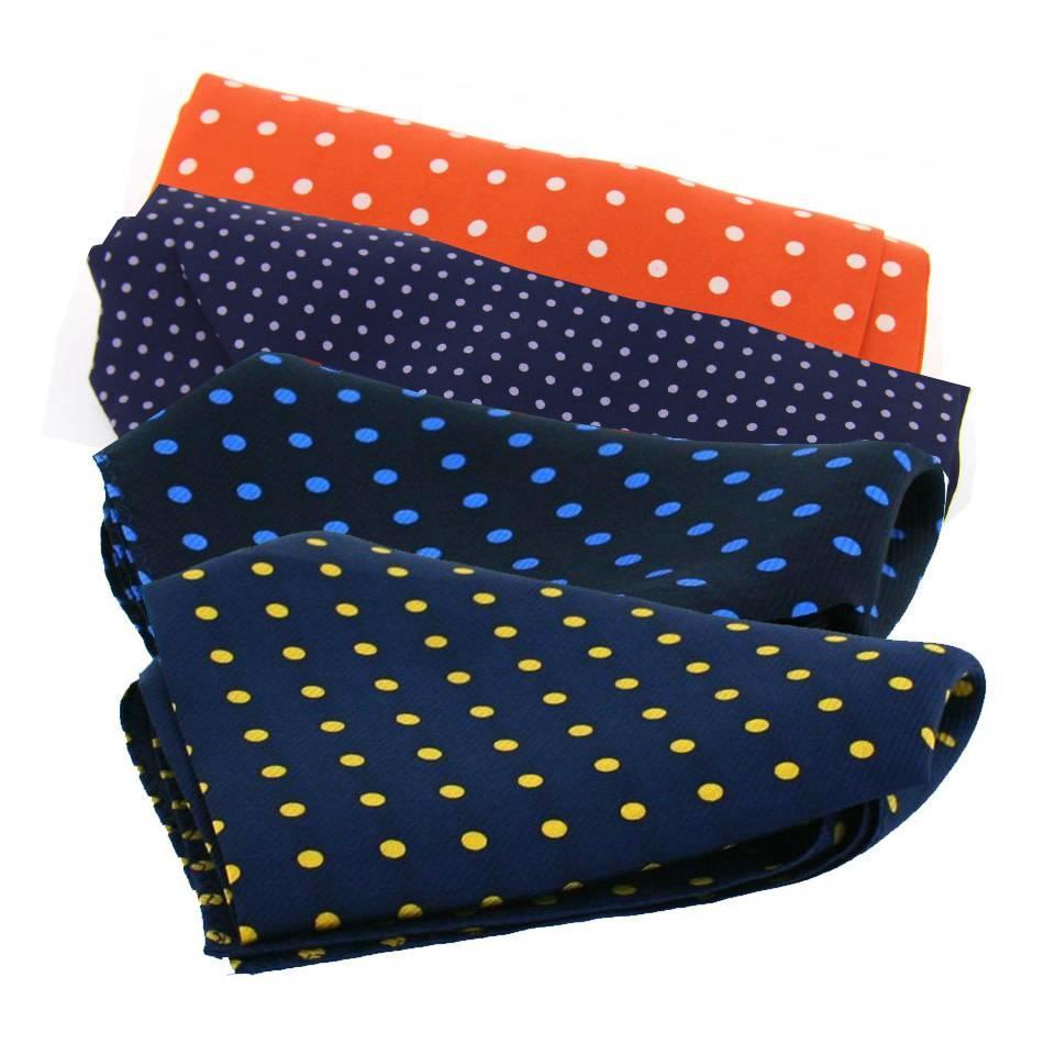 Silk Twill Handkerchiefs, Polka Dot