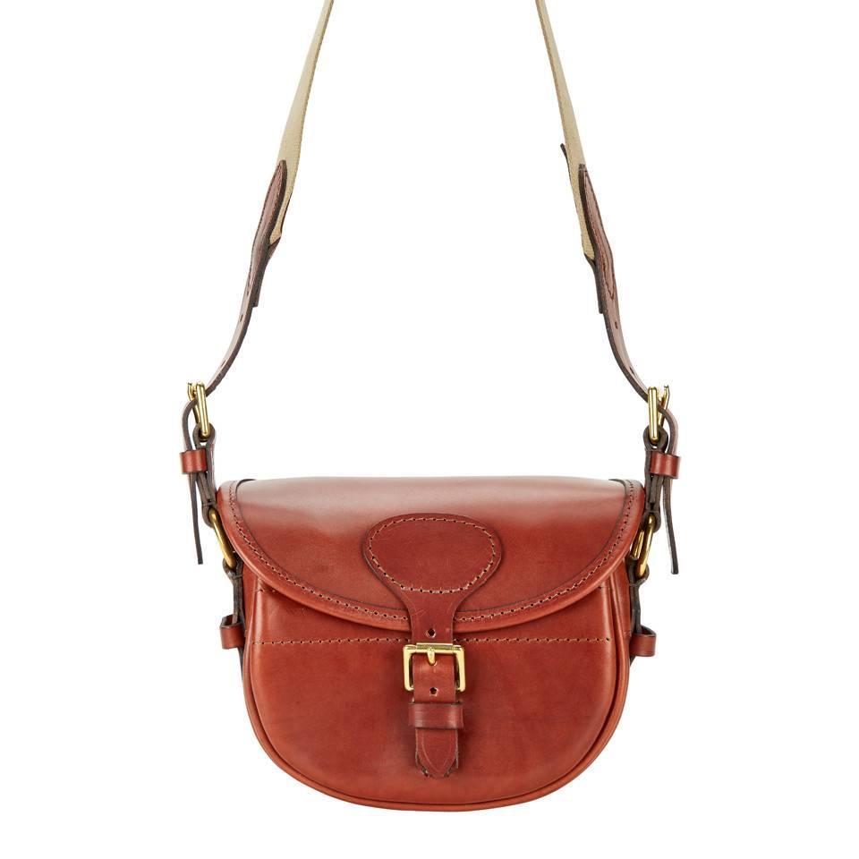 Best Leather Cartridge Bag - Chestnut