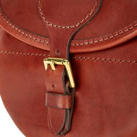 Best Leather Cartridge Bag - Chestnut
