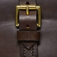 Plain Leather Cartridge Bag