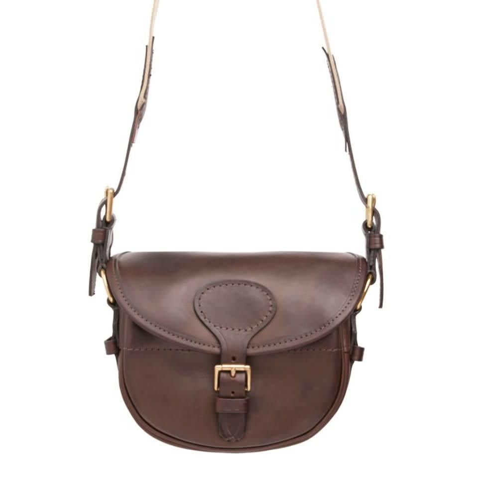 Best Leather Cartridge Bag - Dark Brown
