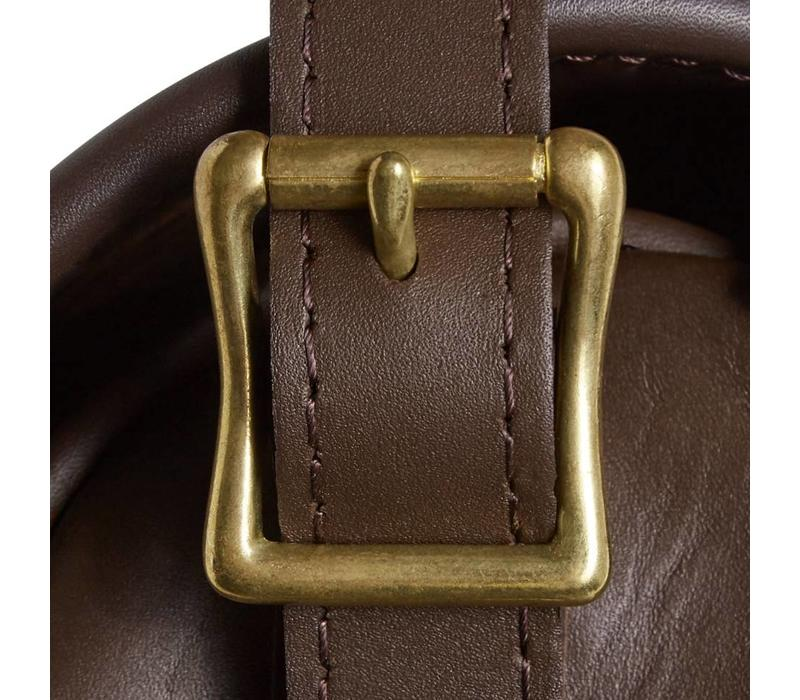 Best Leather Cartridge Bag - Dark Brown