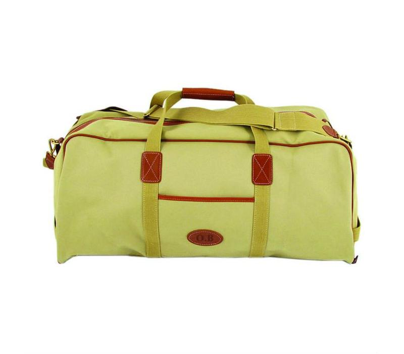 Chapman Canvas Traveller Holdall, Olive Green