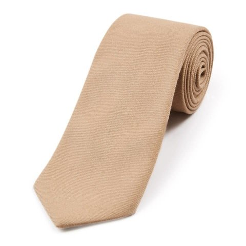 Wool Shooting Tie, Plain - Beige