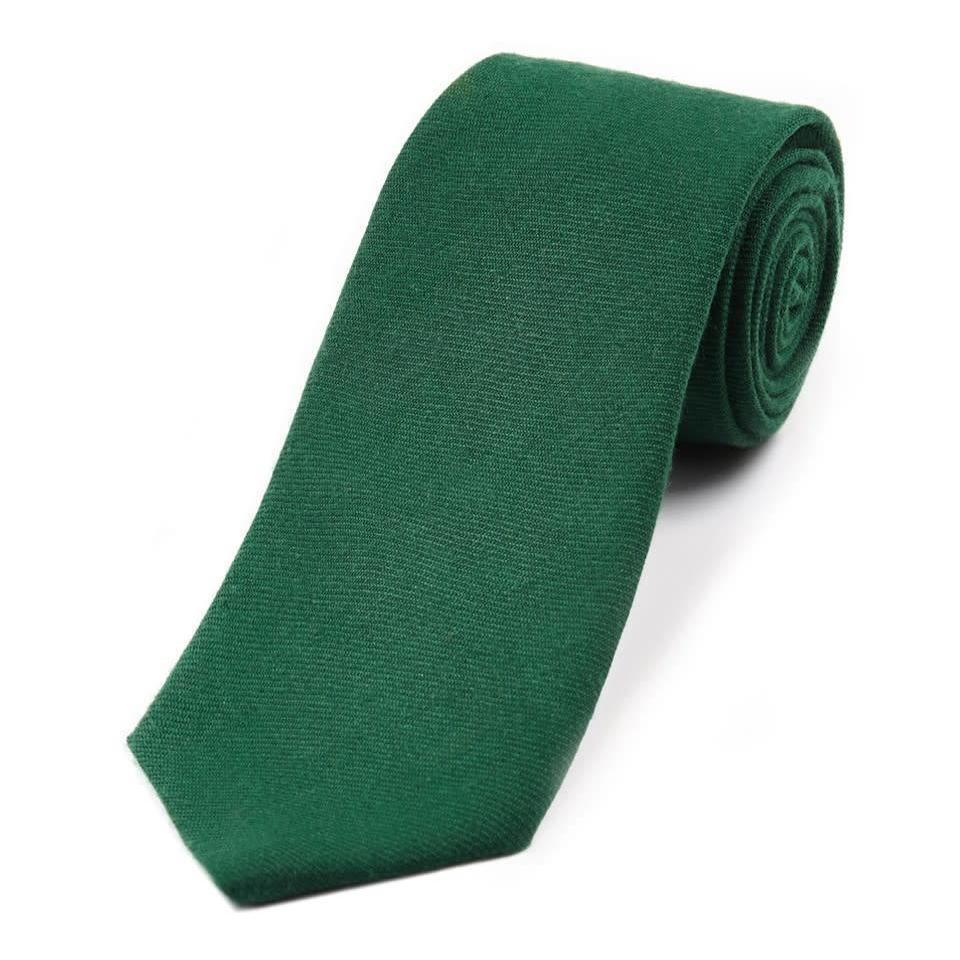 Wool Shooting Tie, Plain - Bottle Green
