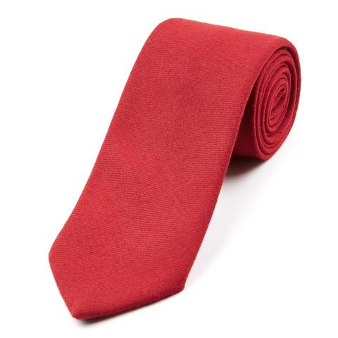 Wool Shooting Tie, Plain - Brick Red