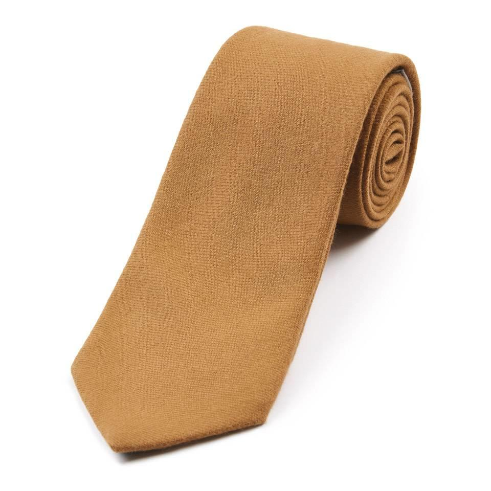 Wool Shooting Tie, Plain - Camel