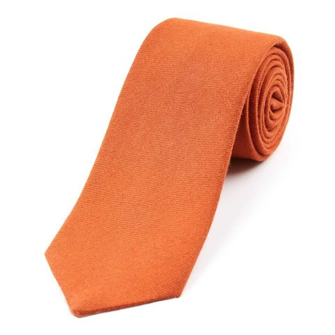 Wool Shooting Tie, Plain - Orange