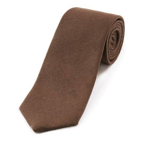 Wool Shooting Tie, Plain - Dark Brown