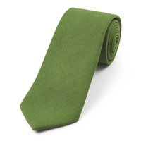 Wool Shooting Tie, Plain - Green
