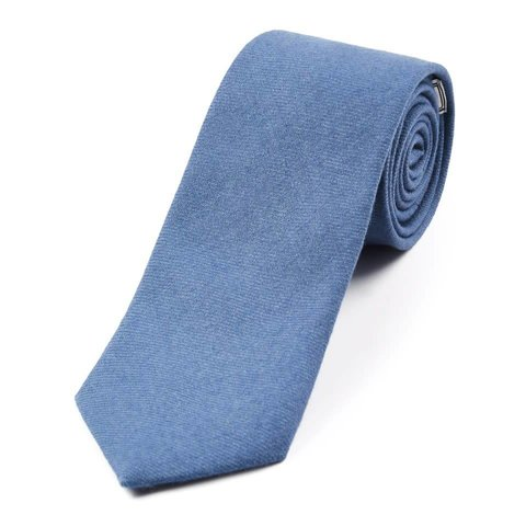 Wool Shooting Tie, Plain - Light Blue