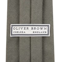 Wool Shooting Tie, Plain - Grey
