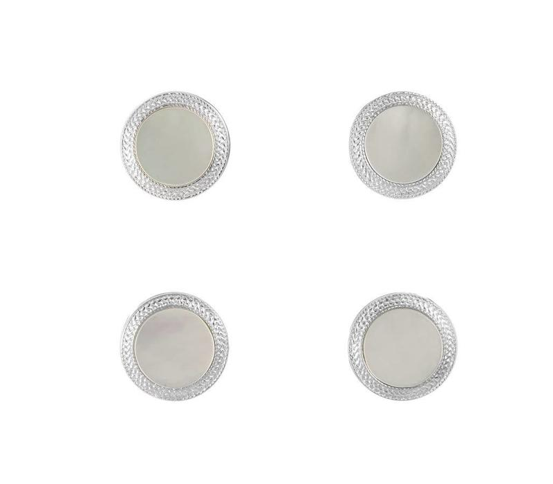 Round Dress Studs, Mother of Pearl
