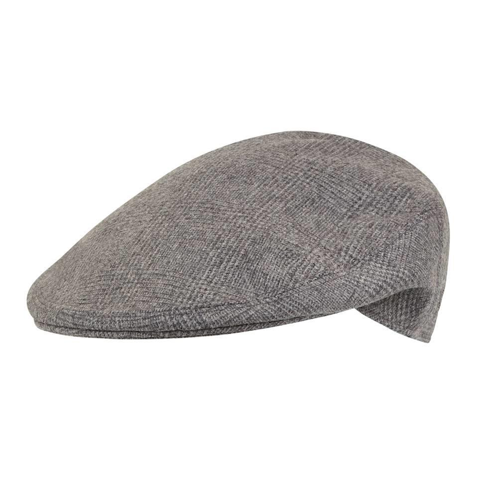 Garforth Tweed Cap, Grey Glencheck