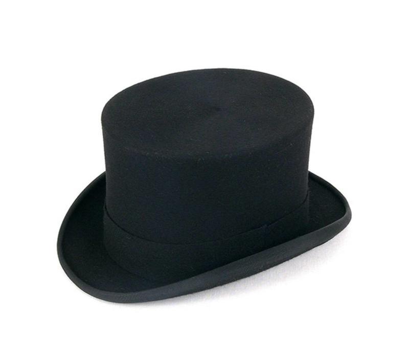 Ex-Rental Wool Felt Top Hat - Black