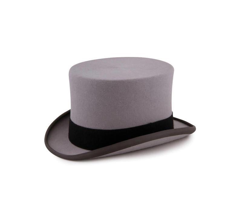 Fur Felt Top Hat - Grey