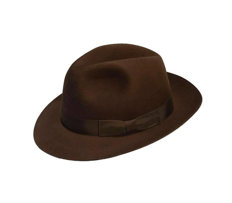 Trilby Hat - Brown