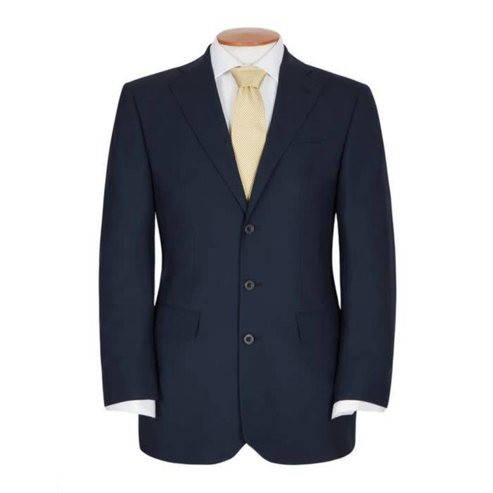 Single Breasted 3 Button City Suit - Navy