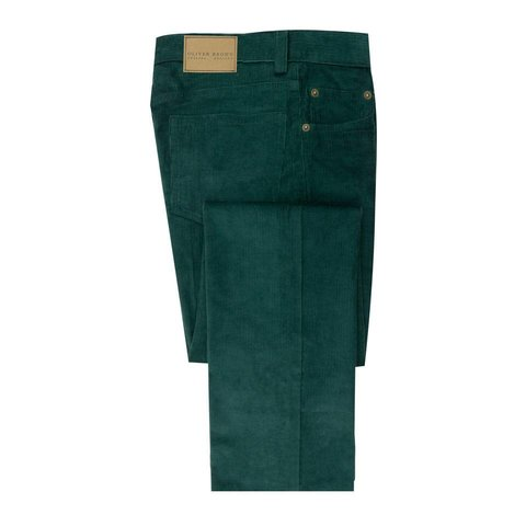 Needlecord Jeans - Green