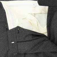 Flat Front Suit Trousers Grey Cashmere Blend