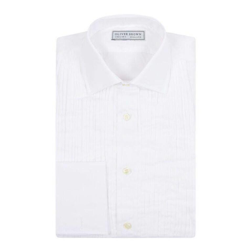 Pleated Dress Shirt, Classic Collar