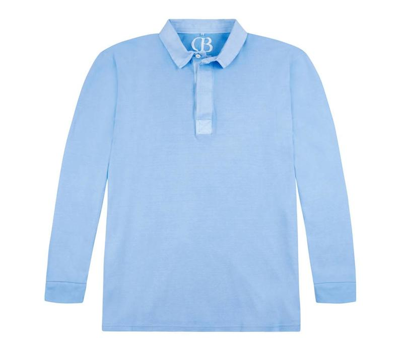 Rugby Shirts, Long Sleeved - Powder Blue