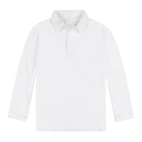 Rugby Shirts, Long Sleeved - White
