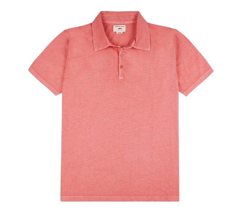 Polo Shirt, Cotton - Coral