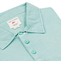 Polo Shirt, Cotton - Turquoise