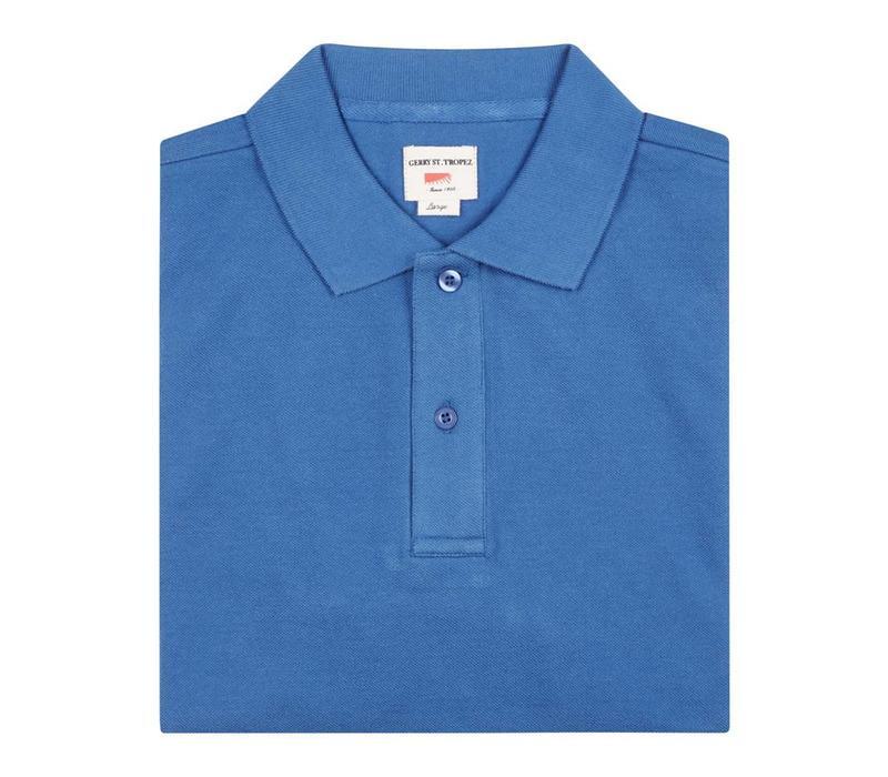 Polo Shirt, Pique - Blue