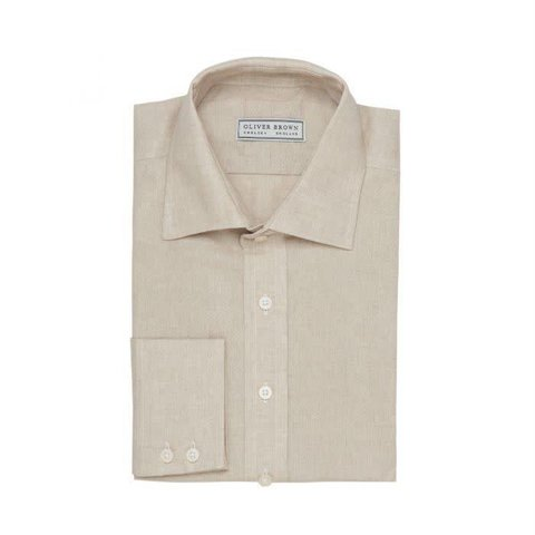 Linen Shooting Shirt - Beige