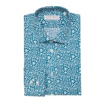 Floral Print Poplin Shirt