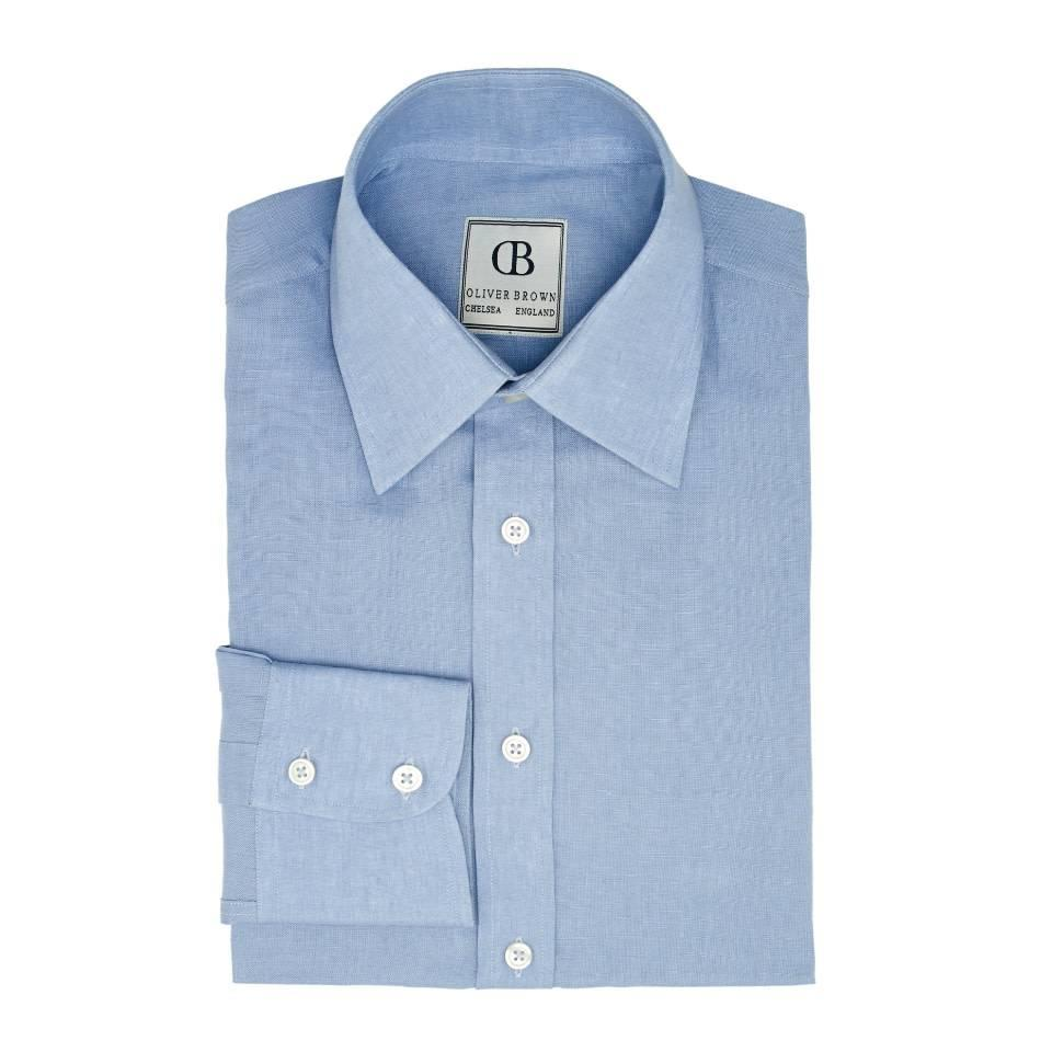 Linen Shirts, Long Sleeved - Summer Blue