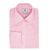 Linen Shirts, Striped - Pink/White