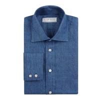 Linen Shirts, Long Sleeved - Navy