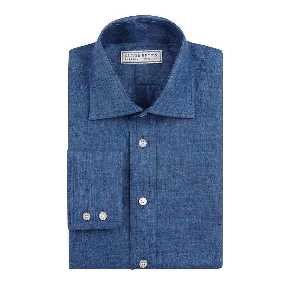 Linen Shirts - Navy