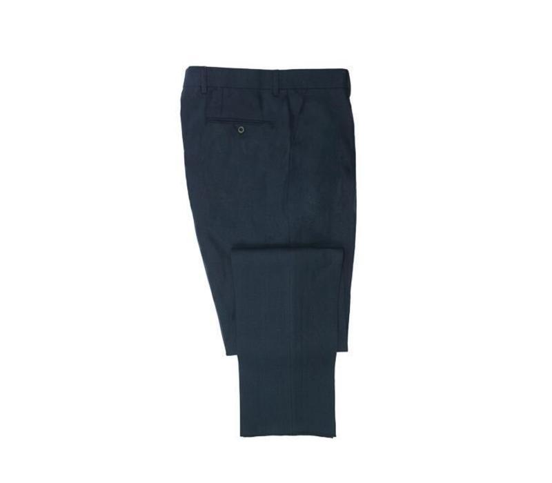 Linen Trousers - Navy