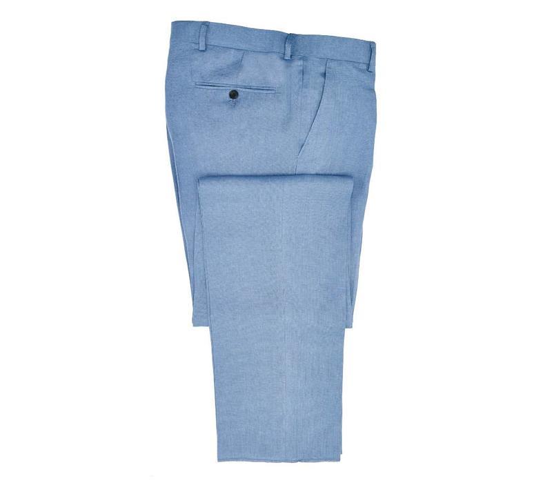 Linen Trousers - Summer Blue