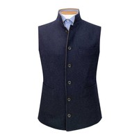 Reversible Gilet - Navy and Tan Loden